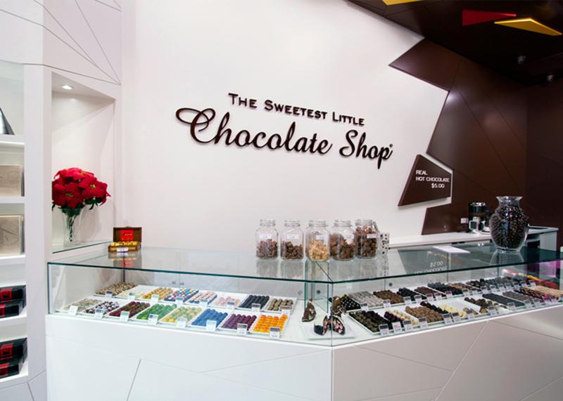 チョコレートショップのショーケース